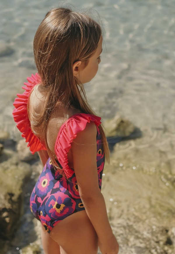 Floral print swimsuit, UPF 50+