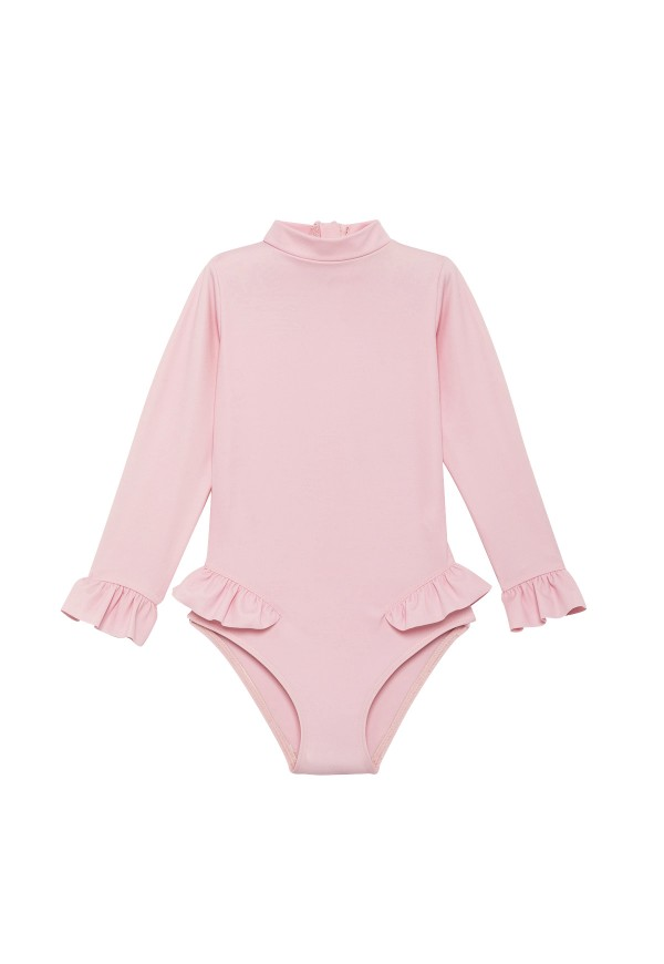 One piece long sleeves baby swimsuit, recycled fibre Econyl®