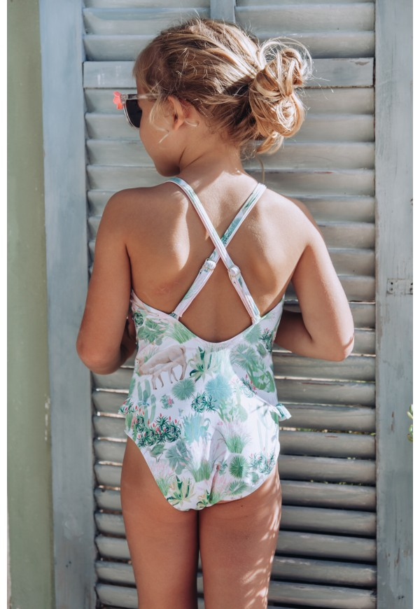 One piece frill swimsuit UPF 50+
