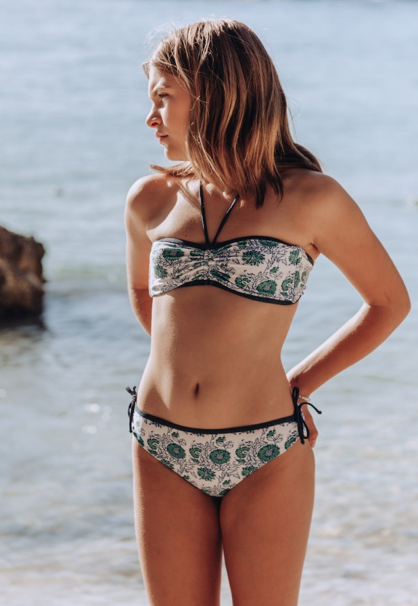 Girl's bikini - European fabric with floral print